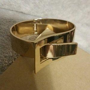 Jewelry - Gold-Bold Hinged Cuff Bracelet